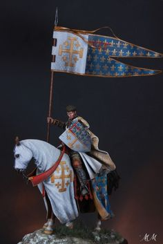 standard bearer Charles 1st d'Anjou Late XIII th C.