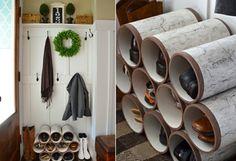 Haus Eingang gestalten - Schuhregal selber bauen
