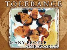 Tolerance - Many People One World (Many People One World Poster & Banner from iCelebrateDiversity.com)