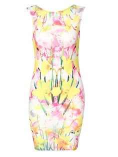 #CLOTHING CLOSET SPRING FLORAL BODYCON by rubyredboutique.co.uk for £22.50