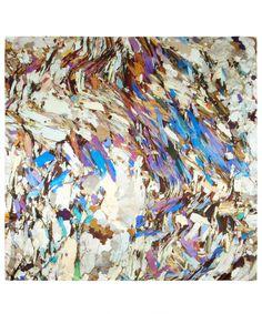 White Mica Print Silk Scarf, Weston Scarves