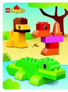 лев, крокодил, страус