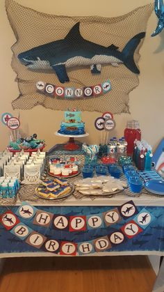 Shark themed birthday party!!!