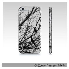 Black Birds Phone Case, Fine Art iPhone Cases, Black Birds iPhone 6... (€25) ❤ liked on Polyvore featuring accessories, tech accessories, iphone sleeve case, slim iphone case, black and white iphone case, apple iphone case and iphone cases