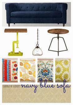change of scenery: trend alert: navy blue sofas.