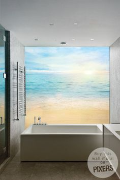Sea and sand background Wall Mural