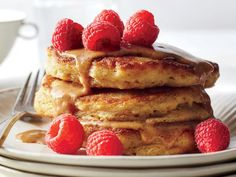 Get ready; this will become your new Sunday morning staple. These pancakes are wonderfully hearty, thanks to old-fashioned oats and white...