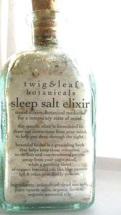 Organic sleep salt elixir bath salts twig & leaf botanicals