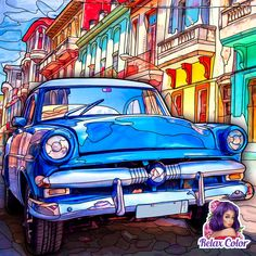 Where old meets auto Vehicles, Car, Painting, Automobile, Painting Art, Paintings, Painted Canvas, Autos, Cars