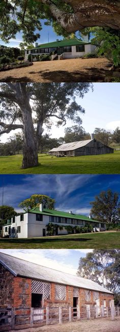Kout Norien, on the Glenelg River near Harrow (391km NW of Melbourne), was originally taken up in 1840. Following subdivision of its original 400,000 acres, the surviving run was leased by Richard Broughton in 1855. He erected the woolshed and homestead before purchasing the freehold in 1863. The colonial-style homestead was built of brick and stone quarried on the property. Its outbuildings, slab hut and slab woolshed (all still in use), form an important pastoral station group.