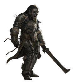 m Half Orc Fighter Plate Armor Sword wilderness breeding pits underdark Until hai orc Fantasy Portraits, Fantasy Artwork, Fantasy Rpg, Medieval Fantasy, Orc Armor, Character Inspiration, Character Art, Brutal Legend, World Mythology