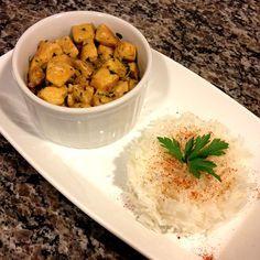 Frango Indiano e Arroz Basmati Indiana, Chana Masala, Mashed Potatoes, Ethnic Recipes, Food, Drink, Indian Chicken Recipes, Healthy Recipes, Coconut Milk