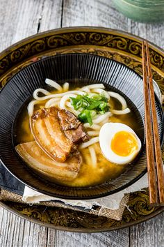 Stewed Pork Belly with Udon Noodles   Ichigo Shortcake