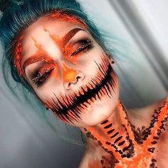 Halloween Kostüm Make Up Pumpkin Jetzt ansehen!
