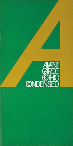 leaflet promoting Avant Garde Gothic Condensed by Herb Lubalin (early 1970's)