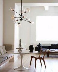 Love that light fixture!