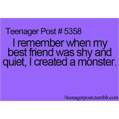 MAHAHAHAHAH @Jasper Hans  HAS MADE ME A MONSTER she actually said that the last time she was over LOL.