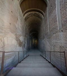 The seven-level ramp was built by Emperor Domitian in the first century AD to serve as a majestic entrance into his palace.