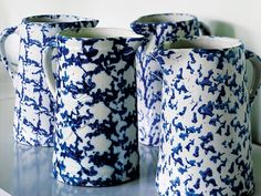 The Rorschach-like patterns make spongeware worth collecting.