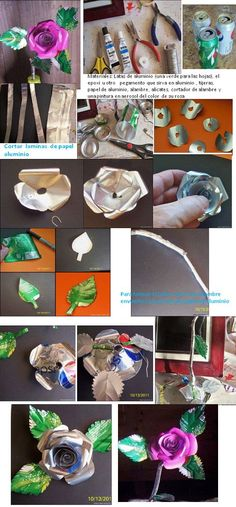 Arte & Reciclaje: Rosas hechas con latas de refresco