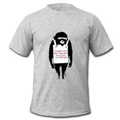 Banksy Laugh Now Monkey T-Shirt