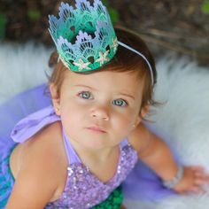 Cutest crown!!! Hey, I found this really awesome Etsy listing at https://www.etsy.com/listing/237459341/new-mermaid-starfish-ombre-lavender-mint