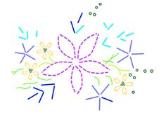 Free ribbon embroidery pattern for beginners, designed by Tatiana Popova of Kiev, Ukraine.