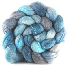 Phat Fiber Merino Alpaca Seacell for Spinning or Felting - Silver Linings 102 grams / 3.5 oz