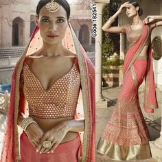 ATTENTION BRIDES! Biggest Sale ever!! #Pink and #Magenta Lehenga!  #FloralMotif #Volume #Layers #Embroidery #Designer #Occasion #IndianDresses #Partywears #Indian #Women #Bridalwear #Fashion #Fashionista #OnlineShopping #Lehenga