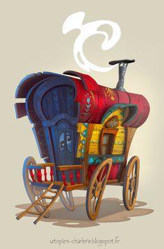 Le blog de Charlène AKA Catell-Ruz: ROULOTTE / Gypsy caravan