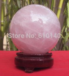 buy natural rose quartz crystal sphere ball healing a natural powder crystal ball with good fortune #rose #quartz #stone