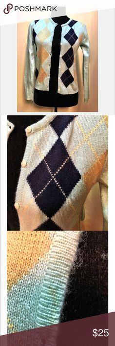 Abercrombie & Fitch Argyle sweater Abercrombie & Fitch wool cardigan. Abercrombie & Fitch Sweaters Cardigans