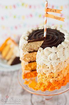 Orange Cream Ombré Cake recipe