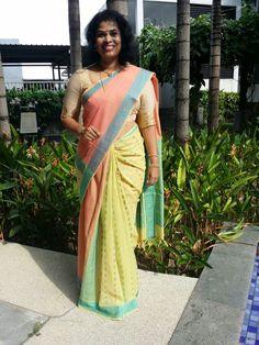 Kanjivaram (4) Kanji Cotton handloom saree, partly style.