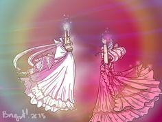 Neo queen serenity with her daughter