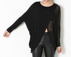 Woman Tshirt Sheer Tshirt Design Tee Long sleeve by OurLittleDaisy