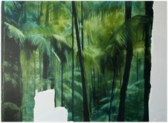 http://aniagubernat.com/get-away-from-it-all-to-paradise/ Ania Gubernat #painting #oil #canvas #landscape #nature