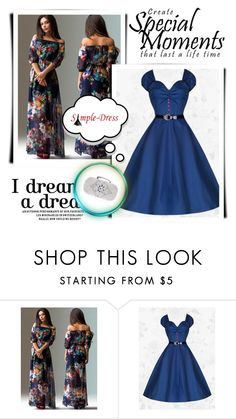 """""""Simple Dress 20"""" by semic-merisa ❤ liked on Polyvore featuring vintage"""