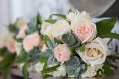 Pretty soft tones and pastel colours from Wedding Flowers in Cornwall. #weddingflowers