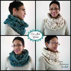 One Skein Wonder Cowl- free crochet pattern