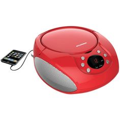 SYLVANIA SRCD261-B-RED Portable CD Players with AM/FM Radio (Red)