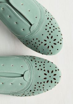 To Be or Notch To Be Flat in Sage. Not sure what to wear today? #green #modcloth