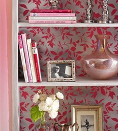 Before you discard leftover wallpaper, consider using it to decorate bookcases, lampshades, chairs, and more.