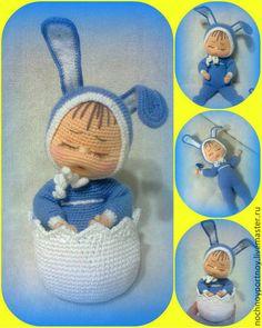 fatti a mano giocattolo - ragazzo Easter bunny Sёmushka.  il lavoro dell'autore.  Galina-notte su misura