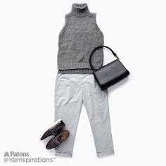 Sleeveless Knit Turtleneck   Free Pattern   Yarnspirations