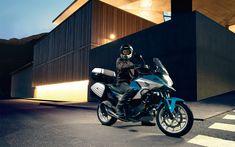 Download wallpapers 4k, Honda NC750X, biker, 2018 bikes, night, new NC750X, Honda