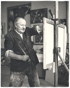 Robert Motherwell in his studio on east 94th street, new york.