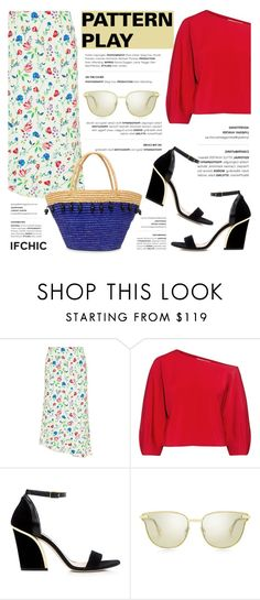 """""""Pattern Play"""" by ifchic ❤ liked on Polyvore featuring Marissa Webb, TIBI, Le Specs Luxe, Sensi Studio and contemporary"""