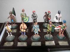 Juguetes Antiguos: Coleccion de 59 soldaditos marca Almirall Palou con sus bases - Foto 5 - 39851430
