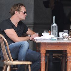 Get the Look: Alexander Skarsgard's Casual Cafe Table